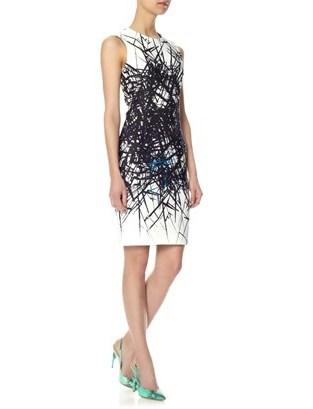 Yigal Azrouel Branch Print Scuba Dress