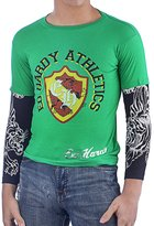 Ed Hardy Kids Long Sleeve Athletics T-Shirt -Green