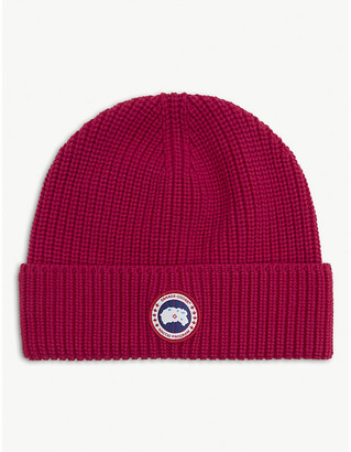 Canada Goose Logo-patch wool beanie hat