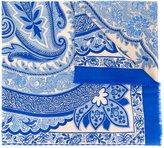 Etro cashmere paisley print scarf