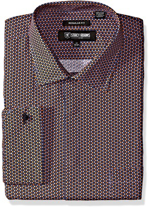 """Stacy Adams Men's Big and Tall Big & Tall Multi Color Plaid Classic Fit Dress Shirt 16.5"""" Neck 36-37"""" Sleeve"""