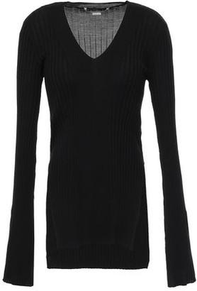 Stella McCartney Ribbed Wool And Silk-blend Sweater