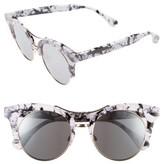 BP Women's 53Mm Cat Eye Sunglasses - Black/ White