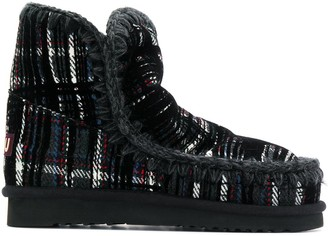 Mou tartan snow boots