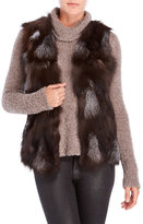 Adrienne Landau Real Fox Fur Vest