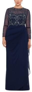 Xscape Evenings Plus Size Illusion Lace Gown