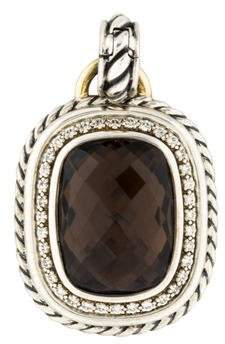 David Yurman Diamond & Smoky Quartz Wheaton Enhancer