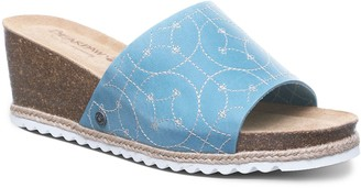 BearPaw Evian Women's Wedge Slide Sandals