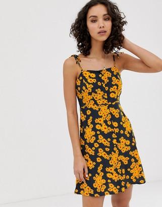 Only daisy print cami mini dress-Black