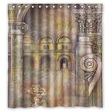 Musicday Christmas Shower Curtains Width X Height / 66 X 72 Inches / W * H 168 By 180 Cm(fabric) Nice Choice For Girls Bf Valentine Boys Teens. Machine Washable European And American Style Western A
