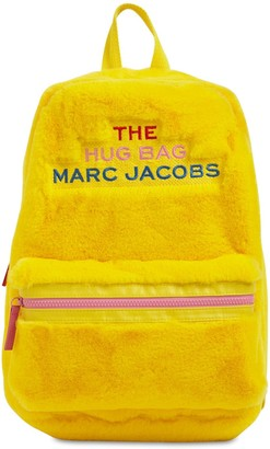 Little Marc Jacobs Logo Embroidery Faux Fur Backpack