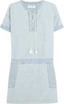 MiH Jeans The Poncho cotton-chambray mini dress