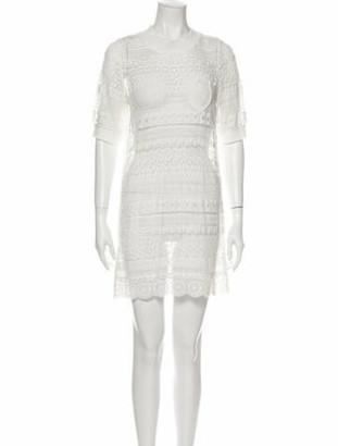 GOEN.J Crew Neck Mini Dress w/ Tags White