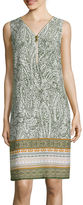 MSK Sleeveless Zipper-Front Sheath Dress