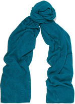 Magaschoni Open-knit silk and cashmere-blend scarf