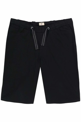 JP 1880 Men's Big & Tall Adjustable Drawstring Elastic Waist Shorts Black X-Large 720250 10-XL