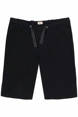 JP 1880 Men's Big & Tall Adjustable Drawstring Elastic Waist Shorts Black XXXX-Large 720250 10-4XL
