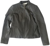 Elie Tahari Grey Leather Leather Jacket for Women