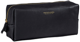 Scotch & Soda Leather Wash Bag, Black