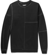 Maison Margiela Oversized Panelled Loopback Cotton-jersey Sweatshirt - Black