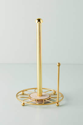 Anthropologie Gold Wire Paper Towel Holder