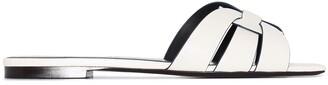 Saint Laurent Tribute leather flat sandals