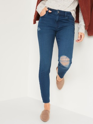 Old Navy Mid-Rise Rockstar Super Skinny Ripped Jeans for Women