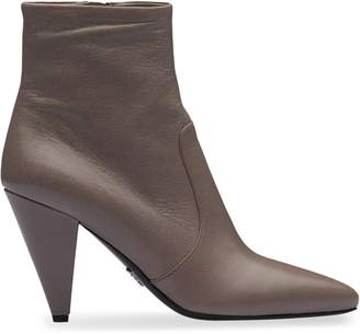 Prada conical-heel ankle boots