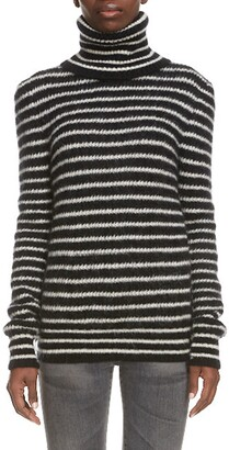 Saint Laurent Stripe Turtleneck Sweater