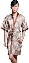 Sunrise Men's Kimono Printed Sexy Short Bathrobe Robes
