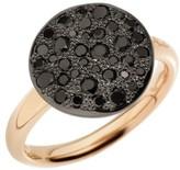 Pomellato Sabbia Black Diamond & 18K Rose Gold Ring