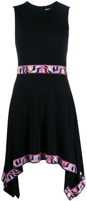 Emilio Pucci Asymmetric Contrast Hem Dress