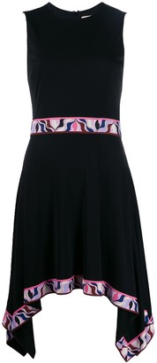Emilio Pucci asymmetric contrast hem dress