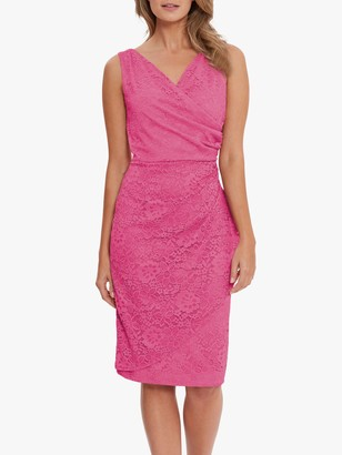 Gina Bacconi Josette Floral Lace Sleeveless Dress