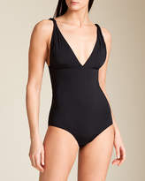 Clube Bossa Solid Twist Strap Swimsuit