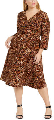Charter Club Plus Size Reversible Tie Waist Dress