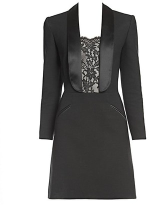 Alexander McQueen Lace Inset Blazer Dress