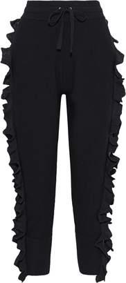 3.1 Phillip Lim Zip-detailed Ruffled Wool-blend Track Pants