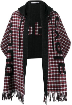 T By Alexander Wang Hooded Logo Scarf