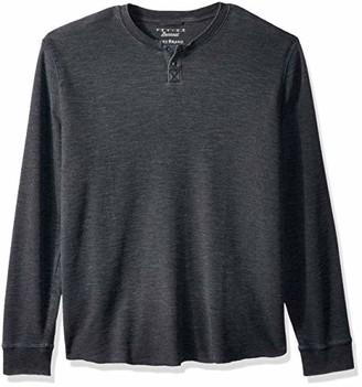 Lucky Brand Men's Venice Burnout Thermal Henley Shirt