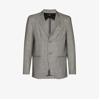 Edward Crutchley Checked Wool Blazer - Men's - Wool