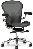 Herman Miller New Aeron Office Chair, Graphite/Polished Aluminium