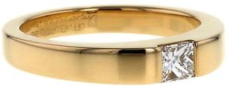 Cartier 1997 yellow gold small Tank diamond ring
