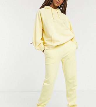 Reclaimed Vintage inspired sweatpants in yellow