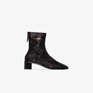 Acne Studios black Bertine 45 leather boots