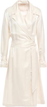 Tory Burch Silk And Wool-blend Twill Midi Dress