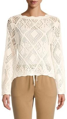 Lea & Viola Pointelle-Knit Sweater