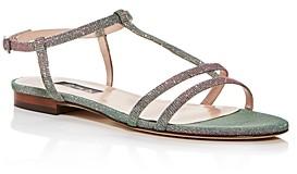 Sarah Jessica Parker Women's Honoree Glitter T-Strap Sandals