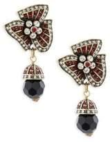 Heidi Daus Holiday Asymmetric Crystal Drop Earrings
