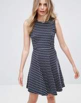 French Connection Bacongo Timtim Print Skater Dress